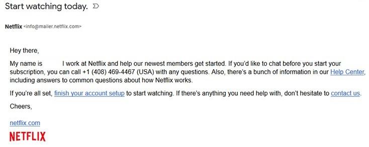 """Netflixからの""""Start watching today.""""というメールは詐欺。すぐに削除してください。"""